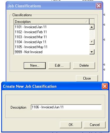 Creating a new job classification